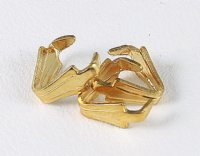 Gold colored prong bails