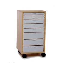 Rolling Storage, Standard, Maple 3 Single, 3 Double, and 3 Triple Drawers