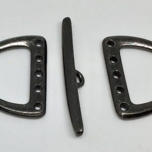 D Ring Toggle 20mm 5 Hole - Black Plate