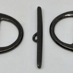 D Ring Toggle 20mm Slotted - Black Plate