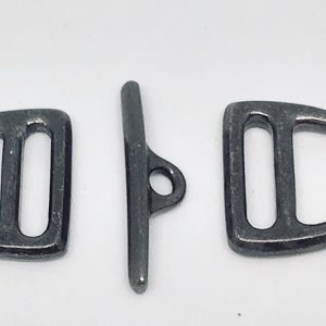 D Ring Toggle 10mm Slotted - Black Plate