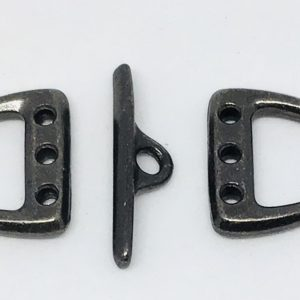 D Ring Toggle 10mm 3 Hole -Black Plate
